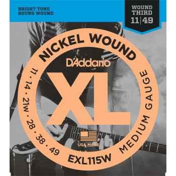 D´addario EXL115W Cuerdas para Guitarra Eléctrica
